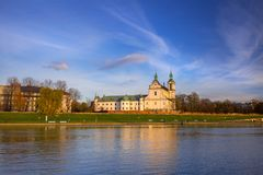 Church of St Michael at Vistula river in Krakow Royalty Free Stock Photos