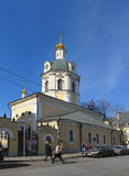 Church of St. Nicholas in the bell ringers. Moscow, Church of St. Nicholas in the bell ringers, 1760-1781 years, the street Rozhdestvenka, 15/8, objects of Stock Photography