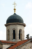 Church of St. Nicholas. The bell tower of the church of St. Nicholas in Kotor (Montenegro Stock Photos