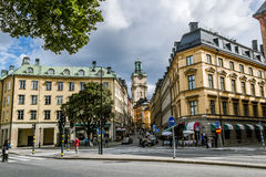 Church of St. Nicholas the Cathedral of Stockholm in Gamla Stan. Royalty Free Stock Photo