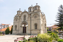 Church of St. Nicholas in the city of Leskovac, Serbia stock photography