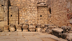Church of St. Nicholas. Demre, Turkey. Architectural elements are represented in the church yard. Stock Photo
