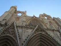 The Church of St. Nicholas in Famagusta built by the Venetians in Cyprus in the middle of the century. royalty free stock image