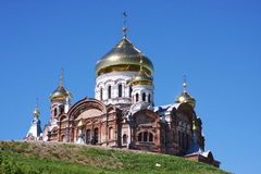Church of St. Nicholas I of White Mountain. In the Perm region, Russia Stock Image