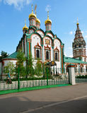 Church of St. Nicholas in Khamovniki Stock Photo