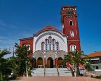 Church of St. Nicholas. In Lerissošu-Atos-Halkidiki-Greece. photographed 14.09.2010 Stock Photos