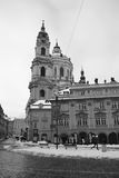 Church of St Nicholas of Mala Strana in Prague Stock Photos
