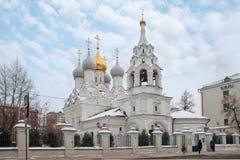 Church of St. Nicholas of Myra in Pyzhi, Bolshaya Ordynka, Mosc Stock Photography