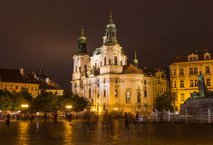 Church of St. Nicholas on Old Town Square in the night Royalty Free Stock Photos