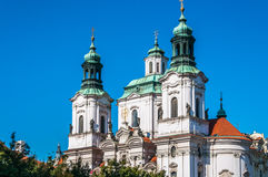 Church of St. Nicholas in Old Town Square Royalty Free Stock Photography