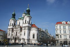 Church of St. Nicholas in old town square, Prague, Czech Republic Stock Photo