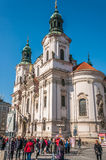 Church of St. Nicholas in Old Town Square Stock Photo