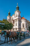 Church of St. Nicholas in Old Town Square Stock Image