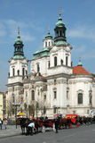 Church of St. Nicholas in Prague Stock Photography