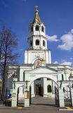 The Church of St. Nicholas in Presnya  Moscow campanile Stock Image