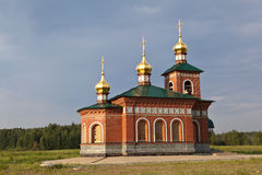 Church of St. Nicholas in Putimke. Verkhotursky area. Sverdlovsk region. Stock Photography