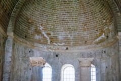 Church of St. Nicholas Santa Claus in Demre, interior, Turkey. This is an ancient Byzantine church Royalty Free Stock Photo