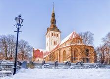 Church of St. Nicholas in Tallinn, Estonia Stock Images