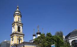 Church of St. Nicholas in Tolmachi at the State Tretyakov Gallery, Moscow, Russia Royalty Free Stock Images
