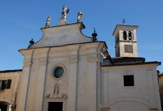 Church of St. Nicholas in the village and castle of Strassoldo Friuli (Italy) Royalty Free Stock Photos