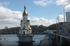 Church of St. Nicholas on the water Stock Images