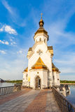 Church of St. Nicholas on the waters in Kiev Royalty Free Stock Images