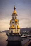 Church of St. Nicholas on the waters in Kiev, Ukraine. Church on the waters in Kiev, Ukraine Royalty Free Stock Images