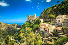 Church of St. Nicolo stands on the hill Royalty Free Stock Image