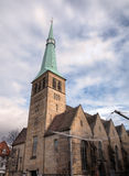 Church of St. Nikolas and Hochzeitshaus (Wedding House). Hameln Royalty Free Stock Photography