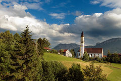 Church St Nikolaus of Pfronten in the bavarian alps Royalty Free Stock Photography