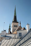 Church St.Olaf above blue sky. Tallinn, Estonia Stock Images