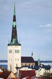 Church St. Olaf in old Town of Tallinn Stock Images