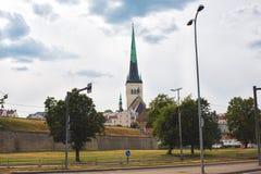 Church St. Olaf in Tallinn Stock Images