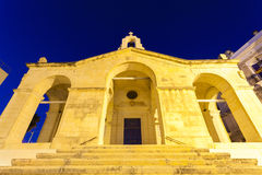 Church of St Paul at Malta. The illuminated Shipwreck Church of St Paul at the Island of Malta at Night Royalty Free Stock Image
