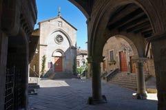 Church of St. Pellegrino. Viterbo. Lazio. Italy. Perspective of the Church of St. Pellegrino. Viterbo. Lazio. Italy Royalty Free Stock Photography
