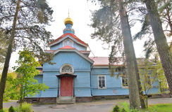 Church of St. Peter the Apostle in the village of Lakhta. Stock Photography