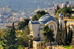 Abbey of he Dormition in Jerusalem stock images