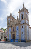 Church of St.Peter, main Church of Gouveia, XVII century in Portugal. Beautiful Church of St.Peter, main Church of Gouveia in Portugal royalty free stock photos