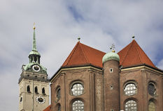 Church of St. Peter in Munich. Germany Stock Image