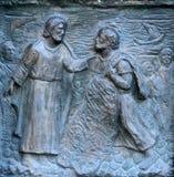 Church of St Peter, Paris, door detail Stock Image