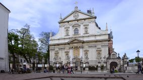 Church of St. Peter and Paul in Krakow, Poland stock video footage