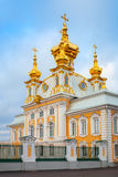 Church of St. Peter and Paul in Peterhof, vertical photo Royalty Free Stock Photography