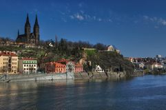 Church of st Peter and Paul on Vysehrad in Prague Royalty Free Stock Photography
