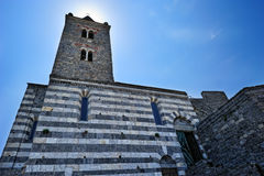 The church of St. Peter in Porto Venere Stock Images