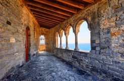 The church of St. Peter in Porto Venere, Italy Stock Image