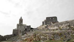 Church of St. Peter, Portovenere, Italy. stock video footage