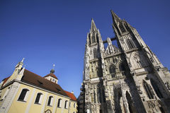 Church of  St. Peter - Regensburg Cathedral in Regensburg. Bavaria. Germany Stock Photography