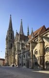 Church of  St. Peter - Regensburg Cathedral in Regensburg. Bavaria. Germany Royalty Free Stock Photography