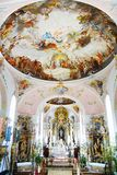 Church of St Peter and St Paul in Oberammergau. Royalty Free Stock Photography