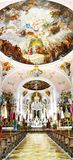 Church of St Peter and St Paul in Oberammergau. Royalty Free Stock Images
